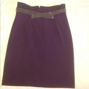 Plum Girl from Savoy pencil skirt
